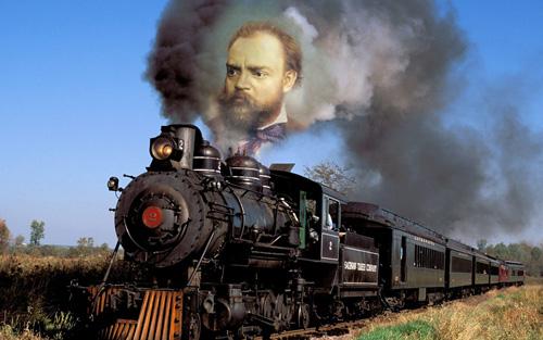 Featured image for post 'Antonín Dvořák, railfan